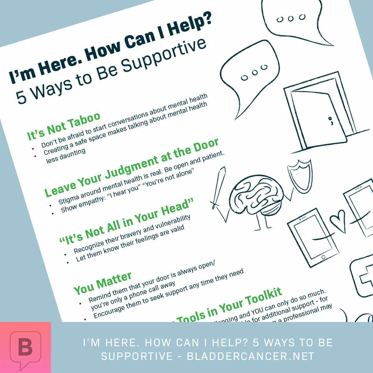 five ways to be supportive