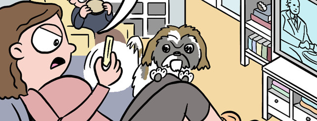 Bladder Cancer Comic: Does My Dog Detect Cancer or Does He Want a Fry? image