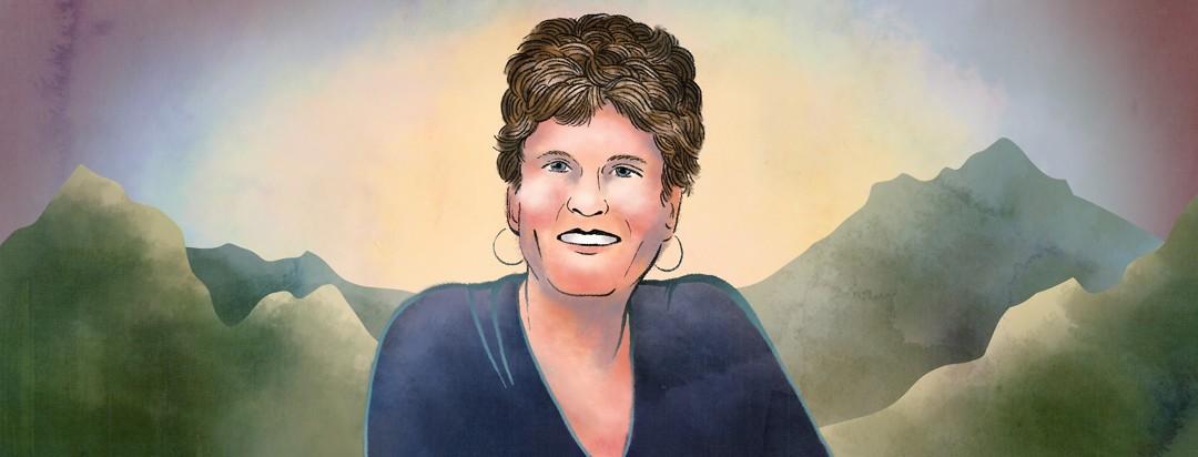 A portrait of Linda, co-organizer of the Bladder Cancer Retreat.